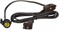 Brown Clip-In Lamp Cords, 6 Foot with On/Off Switch -Wholesale Pack of 50 Cords