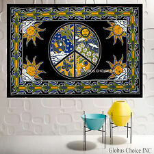"""INDIAN TAPESTRY - CELTIC PEACE KNOT - 60""""X90"""" - HUGE - SIGN"""