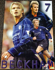 Classic DAVID BECKHAM Manchester United BLUE 2000 EPL Football Soccer POSTER