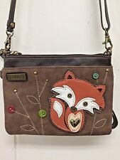 Chala Fox Mini Crossbody Bag Small Convertible Brown Purse New with Tags