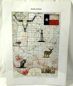 State of Texas - Northwest  Map by Alan Robinson 2014 Signed 37/250 Pictures