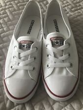 Ladies White Slim Converse genuine size 5.5 new