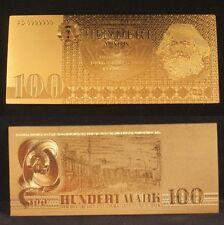 GERMANY DDR BANKNOTE 100 HUNDERT MARK 1975 GOLD REPLICA!