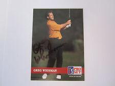 Greg Whisman #135 signed autograph auto 1992 Pro Set Golf Trading Card