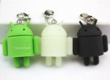 New Google Android Mini Collectible Robot keychain Green + Glow + Black SET of 3