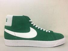 Nike SB Zoom Blazer Mid Suede Pine Green White 864349-311 Size 11.5