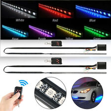 2Packs 48 RGB LED Strip Scanner Flash Lamp Bulb Light Bar Knight Rider + Remote