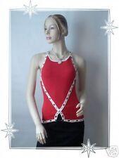 Haut Débardeur Fantaisie Rouge et Blanc Etincelle Couture Taille 3