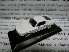 voiture 1/43 ROAD SIGNATURE : Ford mustang GT 2 + 2 1968 fastback blanche