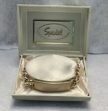 Id Bracelet - New-Never Worn Vintage (1970's) Speidel Goldtone Chainlink