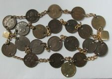 Unique 1863 Civil War Era 21 Store Card & Tokens 4 Row Custom Bracelet