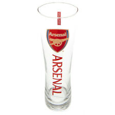 Arsenal Official Tall Beer Glass Slim Pint  Tall Beer Glass