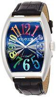Frank Miura Mens Wrist Watch FM06K-CRB Colorful Black 40mm Analog Quartz New