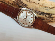 Usati Vintage Rolex Tudor Prince Oysterdate Quadrante Argento Data Automatico Orologio Uomo