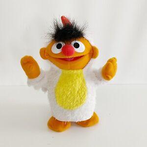 """Ernie Chicken Dancer Sesame Street Workshop Mattel 2003 8"""" Soft Dancing Toy"""