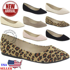7e702a1d5dd NEW Women s Classic Pointy Toe Ballet Flat Slip On Comfortable Flat Shoes