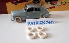 Lot de 4 Pneus 15/8 blanc Dinky toys Peugeot 203