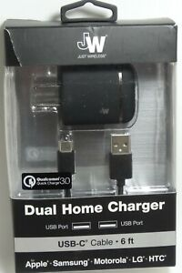 Just Wireless USB-C Quick Charge 3.0 Power Adapter for Galaxy S20/S10,Note 20/10