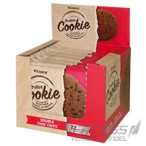 (19,89€/kg) WEIDER Protein Protein Cookie Eiweiß 12x 90g Double Choc Chips