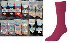 6,12 X Womens Non Elastic Loose Top Comfort Easy Grip Diabetic Cotton Socks 4-7