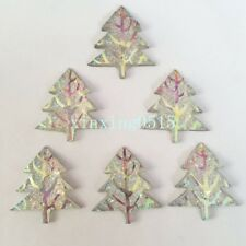 10pcs AB Resin shiny Christmas tree Flatback Rhinestone Wedding 2 hole crafts