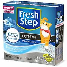 Fresh Step Extreme Scented Litter with The Power of Febreze, Clumping Cat Litte