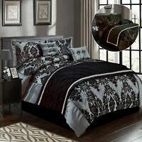 Beautiful Luxury Soft Damask Denton Duvet / Quilt Cover Bedding Set Pillow Shams