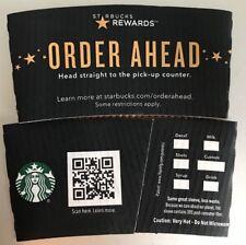 "2018 STARBUCKS ""ORDER AHEAD"" HOT CUP HOLDER SLEEVE"