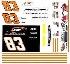 #83 Danica Patrick Jrmotorsports Chevy 2010 1/64th Ho Scale Slot Car Decals