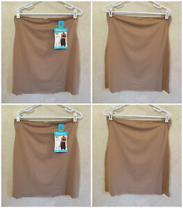 LOT 2 SHAPERCISE 2XL 16-18 Brown Cool Smoothing Wicking Light Control Half Slips