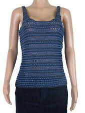 Ralph Lauren Sleeveless Sweater Tank Top Cotton Blend M Navy Slightly Imperfect