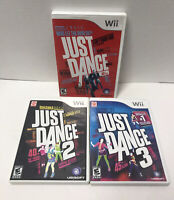 Wii Just Dance 1 2 3 Game Lot Tested Working Nintendo