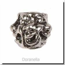 Authentic Trollbeads Sterling Silver 11142 Five Faces :0 RETIRED