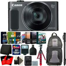 "Canon PowerShot SX620 Black HS Digital Camera + 62"" Monopod and Accessory Kit"
