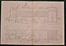 Locomotiva 1855 di stampa SHARP MOTORE SPHYNX piano di sezione TRENO FERROVIA FERROVIARIO