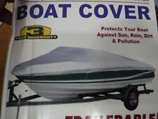 BOAT COVER.. V Hull Tri Hull   BOAT COVER   BASS STYLE (14-16 ft length)