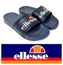 Men's Ellesse Retro Sliders Flip Flops Pool Shoes Beach Sandals Size 7,8,9 Navy