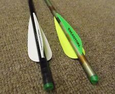 """Easton Archery Carbon Power Bolt 22"""" Flat Cap Crossbow Arrow w/4"""" Vanes"""