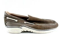 Rugged Shark Mens Leather Slip-on Shoes Size 9.5 Tan