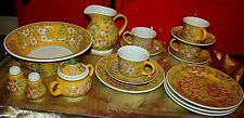 April Cornell Milk Juice Pitcher , Bowl and Coffee set for 4 Vintage 17pc. LOT O