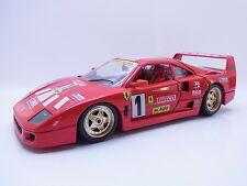 45107 | BURAGO Ferrari f40 Club Italia 1987 Racing Rouge 1:18 Voiture Miniature-RARE