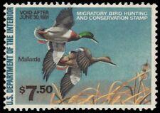 """UNITED STATES RW47 - Hunting Permit """"Mallard Ducks"""" (pa60800) $16"""