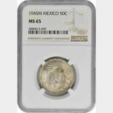1945 M Mexico 50 Centavos NGC MS 65