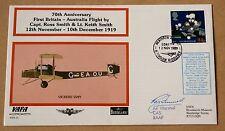 VAFA 07 1ST BRITAIN AUSTRALIA FLIGHT COVER SIGNED AIR MARSHAL RAY FUNNEL RAAF