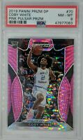 2019-20 Panini Prizm Draft Picks Pink Pulsar Coby White Rookie RC #70, PSA 8