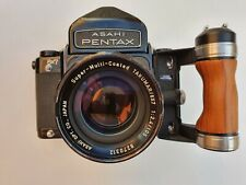 Asashi Pentax 6x7 +Asahi Super-Multi-Coated Takumar 105 mm 1:2,4+Prism+Holzgriff