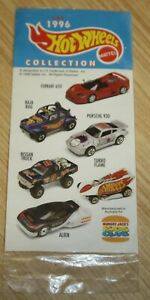 The 1996 Hot Wheels Mattel Collection Stickers - Hungry Jacks Kids Club