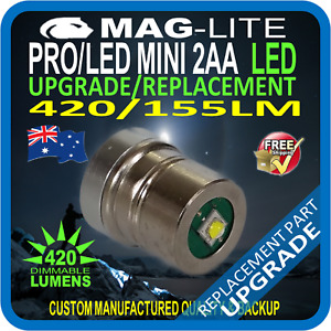 MAGLITE MINI LED 2AA LED MODULE REPLACEMENT UPGRADE SPARE PART 420LM DIMMABLE AU