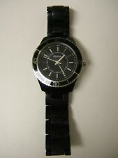 Fossil Women's ES2443 Stella Black Bracelet Resin Crystal Watch - Preowned