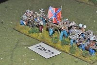 25mm ACW / confederate - american civil war infantry 16 figures - inf (12477)